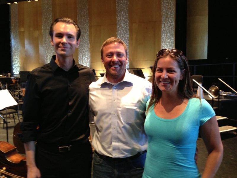 With fellow ICF-Kiev alum Andrew Koehler and Jessica Morel
