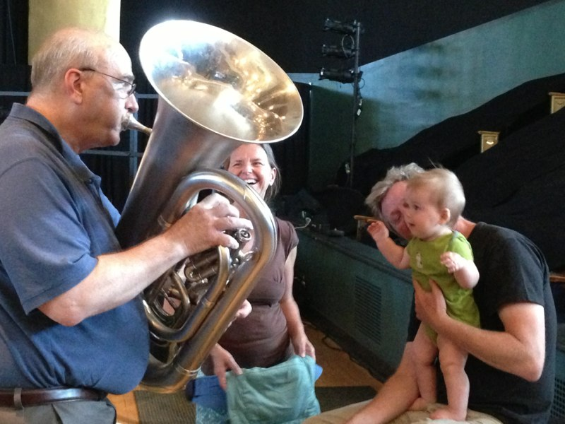 A moment of music sharing between the generations